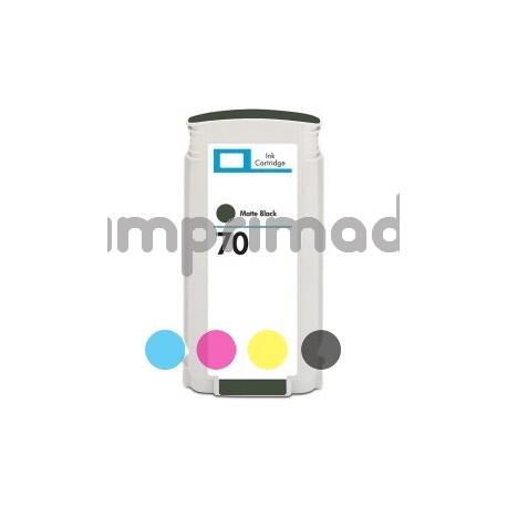 Cartucho de tinta reciclado HP 70 Negro Mate / Tinta HP C9448A