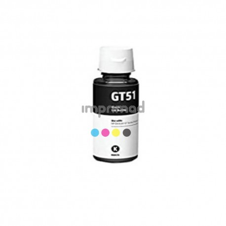 Botella tinta compatible HP GT51 Negro / Tinta compatible HP