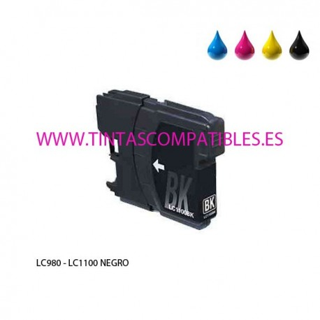 Tinta compatible BROTHER LC980 / LC1100 - Negro - 28 ML