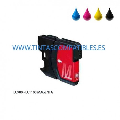 Tinta compatible BROTHER LC980 / LC1100 - Magenta - 12 ML