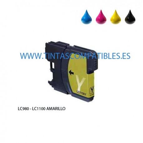 Tinta compatible BROTHER LC980 / LC1100 - Amarillo - 12 ML