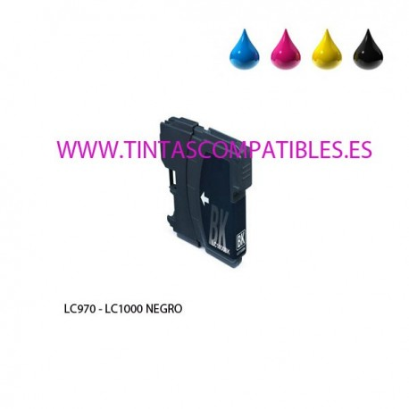 Cartucho compatible BROTHER LC970 / LC1000 - Negro - 25 ML