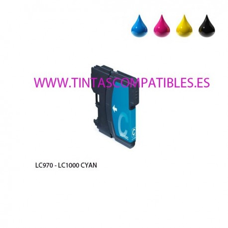 Cartucho compatible BROTHER LC970 / LC1000 - Cyan - 20 ML