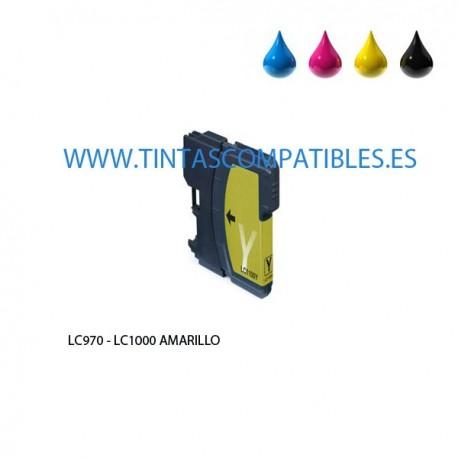 Cartucho compatible BROTHER LC970 / LC1000 - Amarillo - 20 ML
