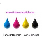 Pack ahorro de Tintas compatibles BROTHER LC970 - LC1000: NEGRO - CYAN - MAGENTA - AMARILLO - 36 y 26.6 ML