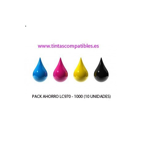 Pack ahorro de Cartucho compatible BROTHER LC970 - LC1000: NEGRO - CYAN - MAGENTA - AMARILLO - 25 y 20 ML
