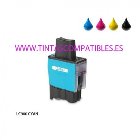 Cartucho compatible BROTHER LC900 - Cyan - 15 ML
