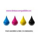 Pack ahorro de Cartucho compatible BROTHER LC985: NEGRO - CYAN - MAGENTA - AMARILLO - 20 y 19 ML