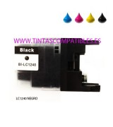 Tinta compatible BROTHER LC1240 / LC1220 - Negro - 32.6 ML