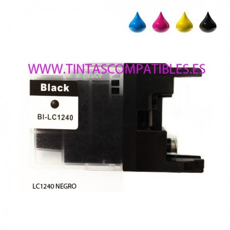 Cartucho compatible BROTHER LC1240 / LC1220 - Negro - 20 ML