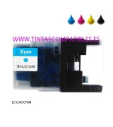 Tinta compatible BROTHER LC1240 / LC1220 - Cyan - 16.6 ML
