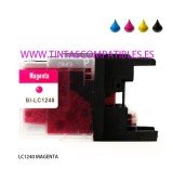 Cartucho compatible BROTHER LC1240 / LC1220 - Magenta - 10 ML