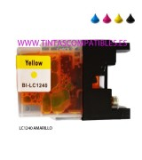 Tinta compatible BROTHER LC1240 / LC1220 - Amarillo - 16.6 ML