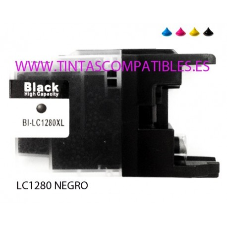 Cartucho compatible BROTHER LC1280XL - Negro - 30 ML