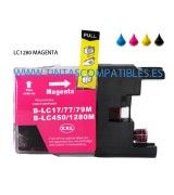Tinta compatible BROTHER LC1280XL - Magenta - 20 ML