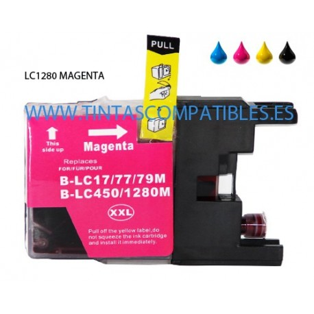 Cartucho compatible BROTHER LC1280XL - Magenta - 20 ML