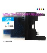 Tinta compatible BROTHER LC1280XL - Cyan - 20 ML
