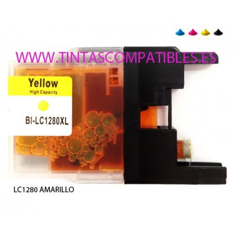 Cartucho compatible BROTHER LC1280XL - Amarillo - 20 ML