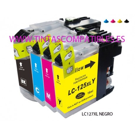 Cartucho compatible BROTHER LC127XL - Negro - 30 ML - ALTA CAPACIDAD