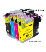 Cartucho compatible BROTHER LC125XL - Amarillo - 16 ML - ALTA CAPACIDAD