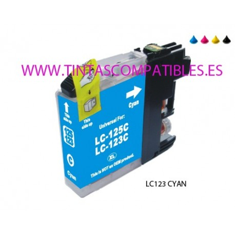 Cartucho compatible BROTHER LC123C / LC121C - Cyan - 10 ML