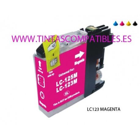 Cartucho compatible BROTHER LC123M / LC121M - Magenta - 10 ML