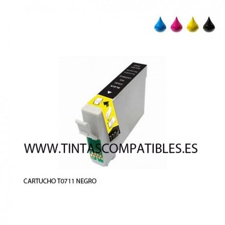 Tinta compatible EPSON T0711 / T0891 / C13T07114010 - Negro - 14 ML