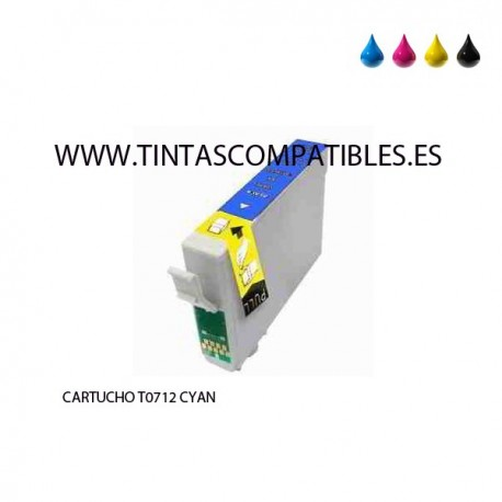 Tinta compatible EPSON T0712 / T0892 / C13T07124010 - Cyan - 14 ML