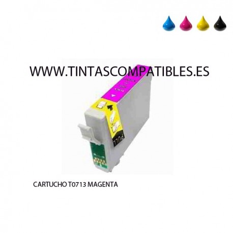 Tinta compatible EPSON  T0713 / T0893 - C13T07134010 - Magenta - 14 ML