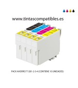 Pack ahorro de Cartucho compatible EPSON T1285: T1281 - 13 ML - T1282 - T1283 - T1284 - 8 ML