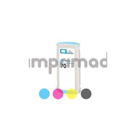 Tintas alternativas HP 70 Cyan Claro / Cartucho HP C9390A genérico